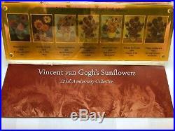 VAN GOGH Sunflowers 125th Anniversary Silver Coin Set Niue 2013 NEW / RARE