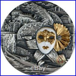 VENETIAN MASK Carnival 2 Oz Silver Coin 5$ Niue 2019 Christmas Sale