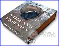 VESUVIUS Volcano Pompeii Lava 2 Oz Silver Coin 2$ Niue Island 2015