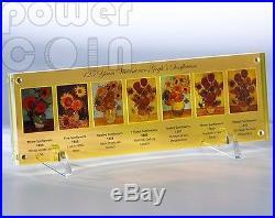 VINCENT VAN GOGH Sunflowers 125th Anniversary 7 Silver Coins Set 5$ Niue 2013