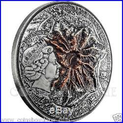 Volcano Vesuvius Pompeii Lava 2oz silver coin Niue 2015 Ultra High Relief