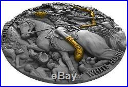 WHITE HORSE Four Horsemen Of The Apocalypse 2 Oz Silver Coin 5$ Niue 2018