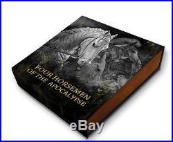 WHITE HORSE Four Horsemen of the Apocalypse 2oz $5 Silver Coin 2018 Niue