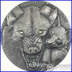 WOLF Wildlife Family 1 Oz Silver Coin 1$ Niue 2017