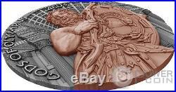ZEUS Gods of Olympus 2 Oz Silver Coin 5$ Niue 2017